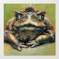 Toad Queen Canvas Print