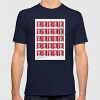 Passport Size Photos Mens Fitted Tee Navy SMALL
