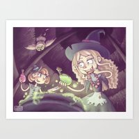 Little Witches Art Print