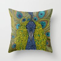 Mr. Pavo Real Throw Pillow