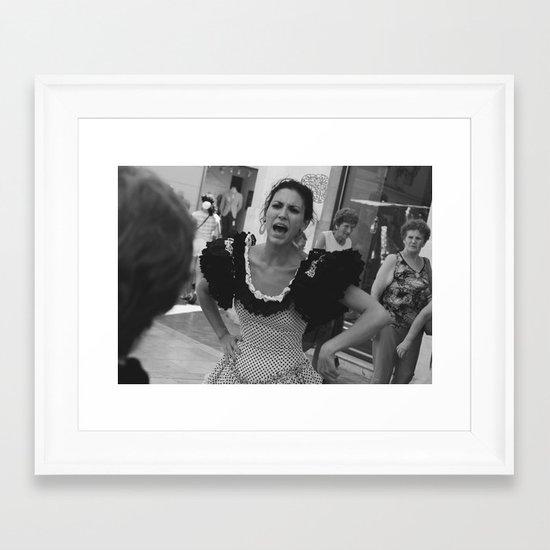 Sing your soul out, girl! Framed Art Print