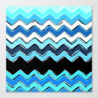 ocean chevron Canvas Print