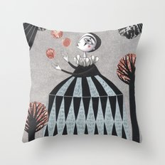 The Juggler's Hour Throw Pillow