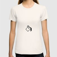 Paint Womens Fitted Tee Natural SMALL