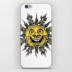 sun face - original yellow iPhone & iPod Skin