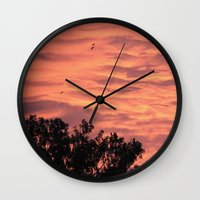 Burning Sunrise Wall Clock