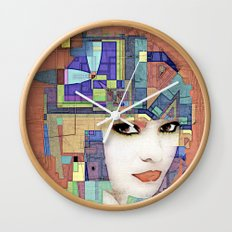 Nouveau Girl 2 (aged finish) Wall Clock