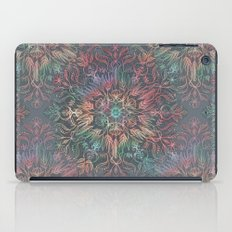 Winter Sunset Mandala in Charcoal, Mint and Melon iPad Case