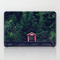 Red in Woods iPad Case
