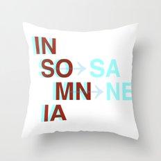 Insomnia / Insane Throw Pillow