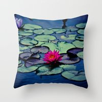 Twilight At The Lily Pon… Throw Pillow