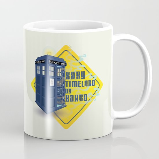 Doctor Who Tardis - Baby Timelord on Board Mug