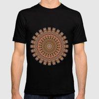 Mandala Mania-Vintage Co… Mens Fitted Tee Black SMALL