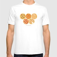 Olympizza Mens Fitted Tee White SMALL