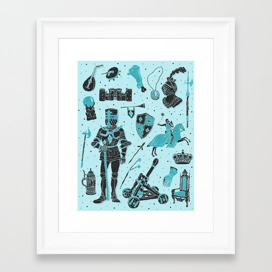 Knightly Tales Framed Art Print