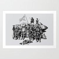 Martian Mounties Art Print