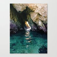 Colorful Ocean Cave Canvas Print