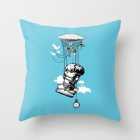 The Skies Are Full Of Strange Things Throw Pillow