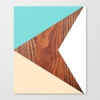 Color & Wood Canvas Print