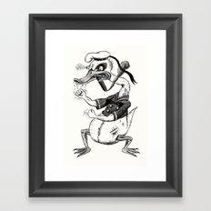 Rage-aholic Duck Framed Art Print