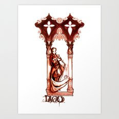 Iago - From Othello - Shakespeare Villain Illustration Art Print