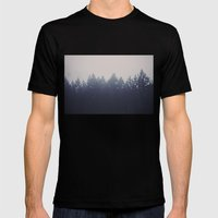 Forest in the Haze Mens Fitted Tee Black SMALL