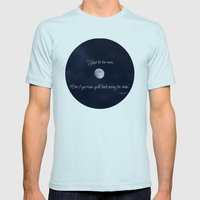 Shoot For The Moon Mens Fitted Tee Light Blue SMALL