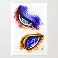 alien eyes Art Print