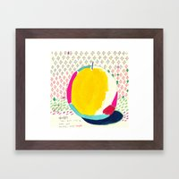 Diamond And Yellow Apple Framed Art Print