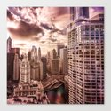 Window over Chicago Canvas Print