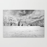 Winter at the Old Castle Canvas Print