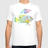 Fishy Fish - Original Wa… Mens Fitted Tee White SMALL