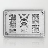 Legend of Zelda Hylian Shield Foundry logo Iconic Geek Line Artly Laptop & iPad Skin