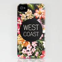 iPhone 4s & iPhone 4 Cases featuring West Coast by Text Guy