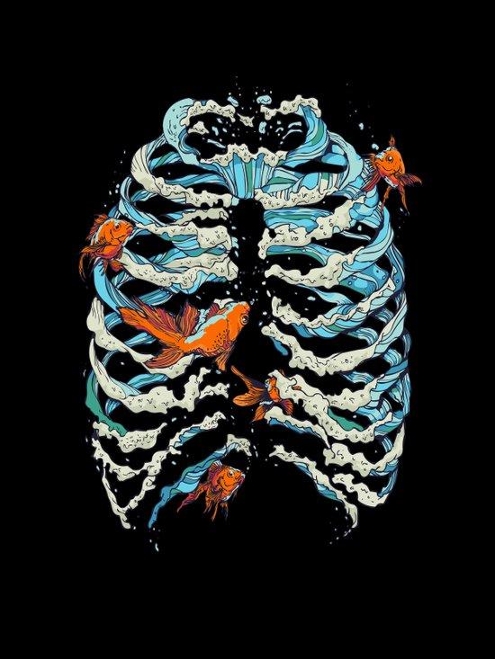 FISH BONE  Canvas Print