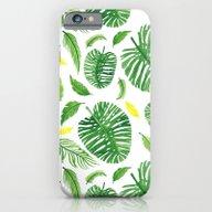 Palm Leaf Pattern iPhone 6 Slim Case