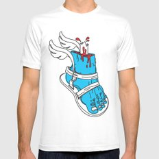 Holy Feet!_by LelosLovesYou Mens Fitted Tee White SMALL