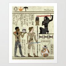 Hero-glyphics: Awakening Art Print
