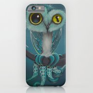 iPhone & iPod Case featuring BLue Octowl by Annelies202