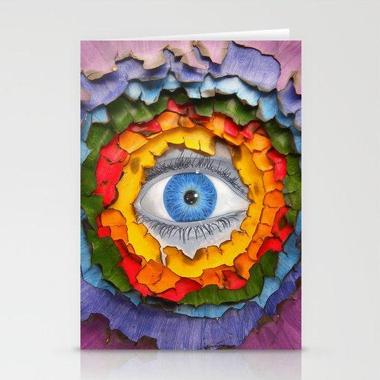Rainbow Burn Stationery Card