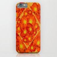 Orange-Red Poppies In Ye… iPhone 6 Slim Case