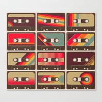 Mixed Tapes Canvas Print