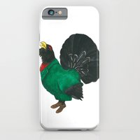 iPhone & iPod Case featuring Capercaillie in suit by Lina Littlefield