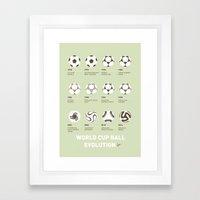 My Evolution Soccer Ball… Framed Art Print