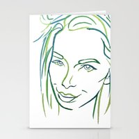 Green Portrait Stationery Cards