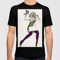 Fashion Illustration - P… Mens Fitted Tee Black SMALL