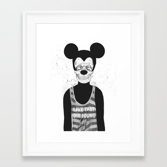 Dead mouse Framed Art Print
