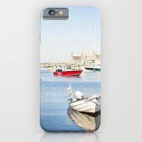 Boats Reflecting in Harbor in Nantucket iPhone 6 Slim Case