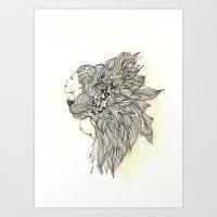Animalia Lion Art Print
