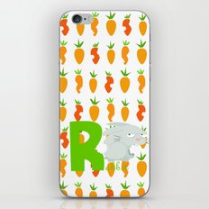 r for rabbit iPhone & iPod Skin